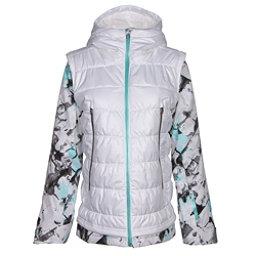 Spyder Moxie Womens Insulated Ski Jacket, White-Frozen Freeze Print-Freeze, 256