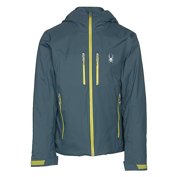 Spyder Pryme Mens Insulated Ski Jacket, Union Blue-Sulfur, 600