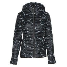 Spyder Timeless Hoody Womens Jacket, Waves Black Print-Black, 256