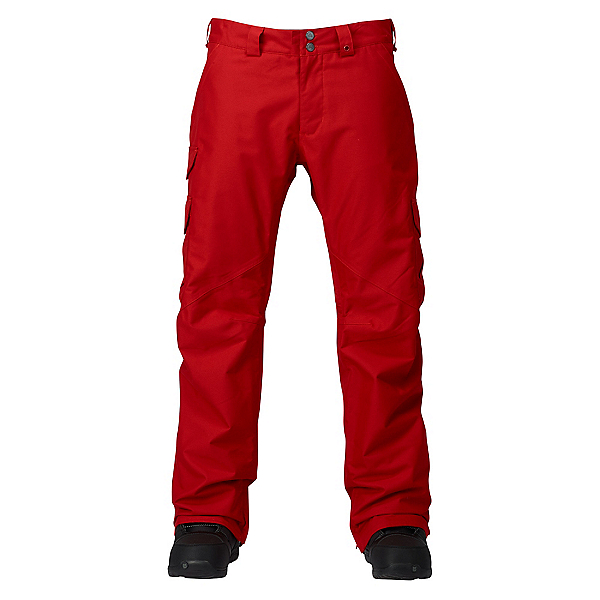 Burton Cargo Classic Short Mens Snowboard Pants, Process Red, 600