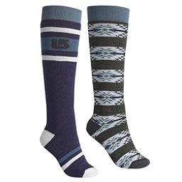 Burton Weekend 2 Pack Womens Snowboard Socks, Mood Indigo, 256