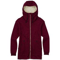Burton Minxy Full Zip Fleece Womens Hoodie, Sangria Heather, 256
