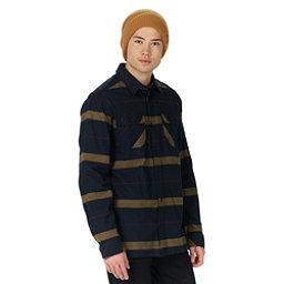 Burton Analog Transmission Mens Flannel Shirt, True Black, 256
