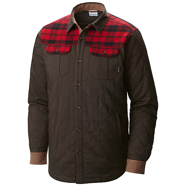 Columbia Kline Falls Shirt Mens Jacket, Buffalo-Mountain Red Plaid, 600