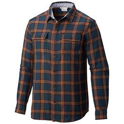 Columbia Hoyt Peak Mens Flannel Shirt, Night Shadow Grid, 256
