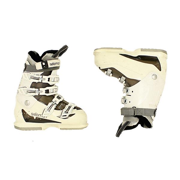 Used Womens Salomon Divine 770 Ski Boots White Black, , 600