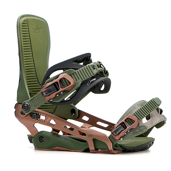 Rome Targa Snowboard Bindings, Copper Trees, 600
