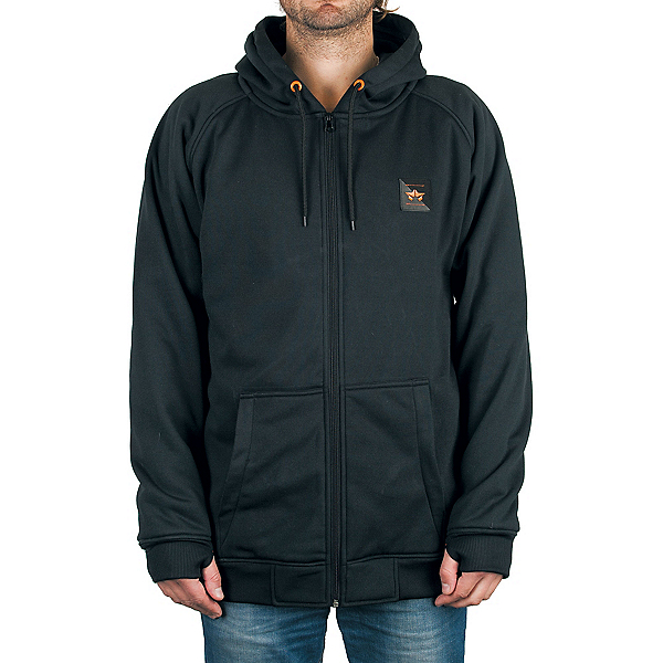Rome MT After Burner Full Zip Mens Hoodie, Black, 600