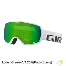 Giro Balance Goggles, White Wordmark-Loden Green, 256