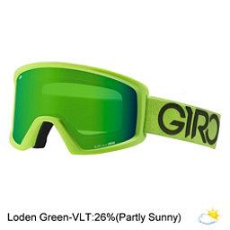 Giro Blok Goggles, Lime-Black Dual-Loden Green, 256