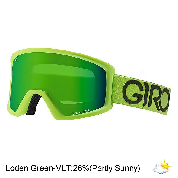 Giro Blok Goggles, Lime-Black Dual-Loden Green, 600
