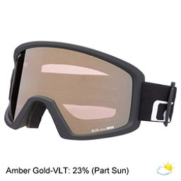 Giro Blok Goggles, Black Wordmark-Amber Gold, 256