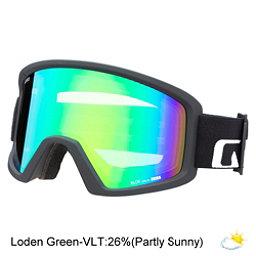 Giro Blok Goggles, Black Wordmark-Loden Green, 256