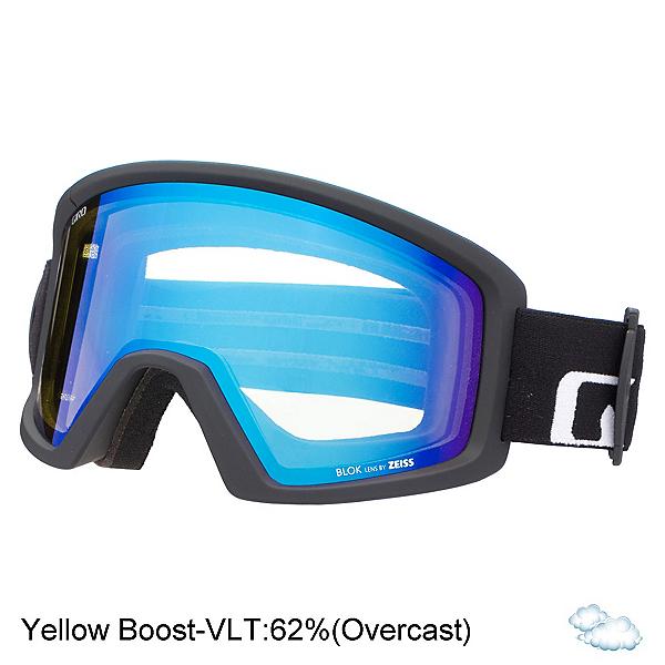 Giro Blok Goggles, Black Wordmark-Yellow Boost, 600
