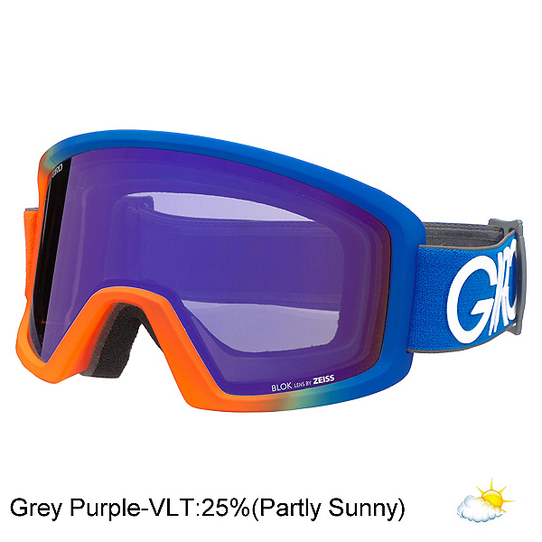 Giro Blok Goggles, Flash-Grey Purple, 600