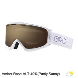 Giro Index Womens OTG Goggles, White Pocket Square-Amber Rose, 256