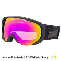 Giro Field Womens Goggles, Black Deco-Amber Pink, 256