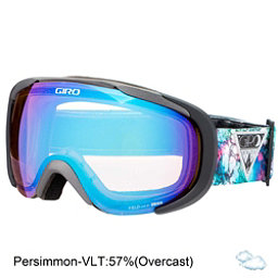 Giro Field Womens Goggles, Black Galaxy-Persimmon Boost, 256