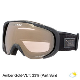 Giro Field Womens Goggles, Black Deco-Amber Gold, 256