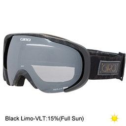 Giro Field Womens Goggles, Black Deco-Black Limo, 256