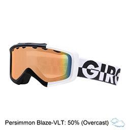 Giro Grade Kids Goggles, Black-White 50-50-Persimmon Bl, 256