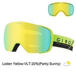 Giro Contact Goggles, Lime-Black Slash-Loden Yellow + Bonus Lens, 256