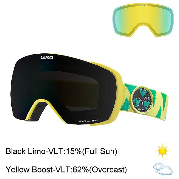 Giro Contact Goggles, Gerry Lopez Green Yellow-Black + Bonus Lens, 600