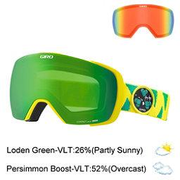 Giro Contact Goggles, Gerry Lopez Green Yellow-Loden + Bonus Lens, 256