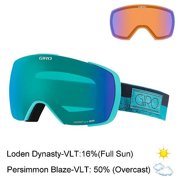 Giro Contact Goggles, Turquoise Turbulence Rails-Lod + Bonus Lens, 600
