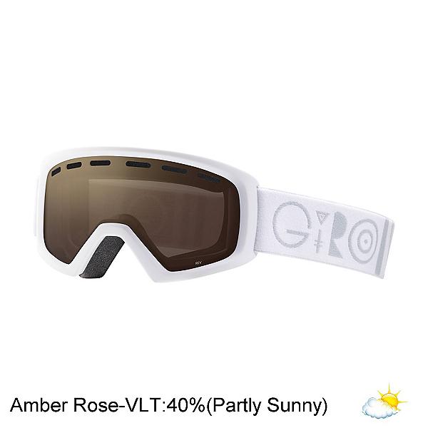 Giro Rev Kids Goggles, White Geo-Amber Rose, 600