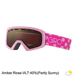 Giro Rev Kids Goggles, Pink Magenta Dots-Amber Rose, 256