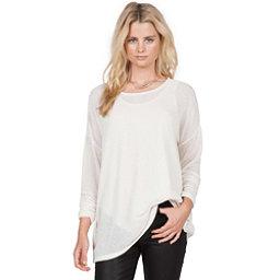 Volcom Lived In Go Crew Womens Shirt, Vintage White, 256