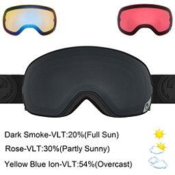 Dragon X2s Goggles, Knight Rider-Dark Smoke + Bonus Lens, 256