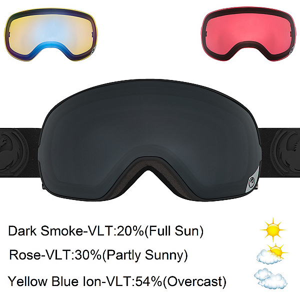 Dragon X2s Goggles, Knight Rider-Dark Smoke + Bonus Lens, 600