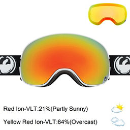 Dragon X2 Goggles, Inverse-Red Ionized + Bonus Lens, 256