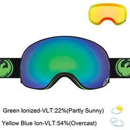 Dragon X2 Goggles, Jet-Green Ionized + Bonus Lens, 256