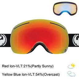 Dragon X1 Goggles, Inverse-Red Ionized + Bonus Lens, 256