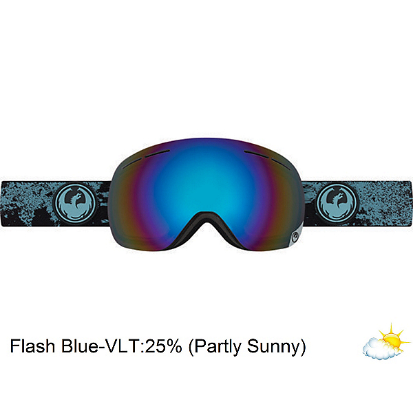Dragon X1s Goggles, Mason Blue-Flash Blue Polarize, 600