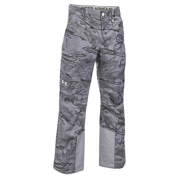 Under Armour ColdGear Infrared Chutes Shell Mens Ski Pants, Overcast Gray-Overcast Gray-Wh, 600