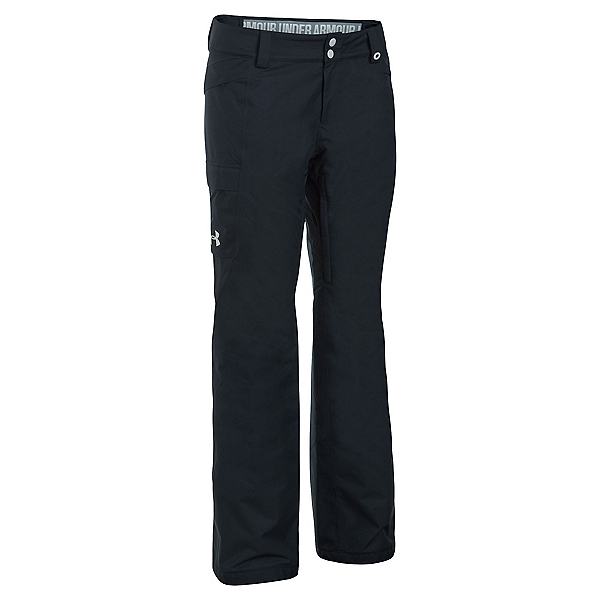 Under Armour ColdGear Infrared Chutes Womens Ski Pants, Black-Glacier Gray, 600