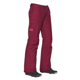 Under Armour ColdGear Infrared Chutes Womens Ski Pants, Black Currant-Raisin Red, 256