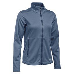 Under Armour ColdGear Infrared Softershell Womens Soft Shell Jacket, Aurora Purple-Faded Ink-Aqua Falls, 256