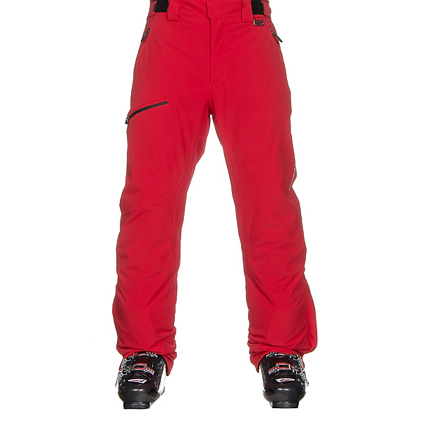 Karbon Silver Trim Mens Ski Pants, Red-Black, 600