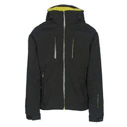 Descente Anton Mens Insulated Ski Jacket, Black-Gunmetal-Yellow, 256