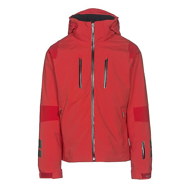 Descente Anton Mens Insulated Ski Jacket, Electric Red-Gunmetal-Black, 600