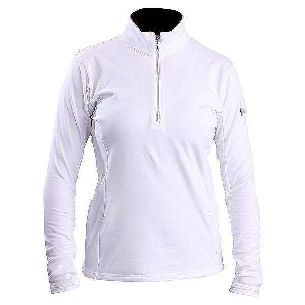 Descente Bailey T-Neck Womens Mid Layer, Super White, 600