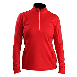 Descente Bailey T-Neck Womens Mid Layer, Electric Red, 256