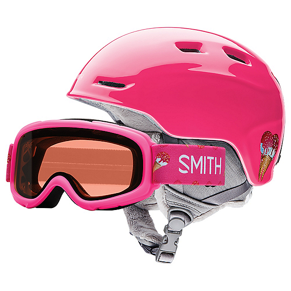 Smith Zoom Jr. & Sidekick Combo Kids Helmet, Pink Sugarcone, 600