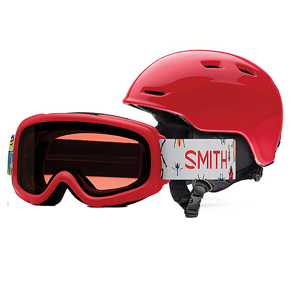Smith Zoom Jr. and Gambler Combo Kids Helmet, Lava, 600