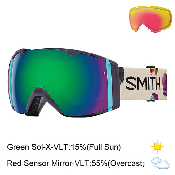 Smith I/O Goggles, Shadow Purple Creature-Green S + Bonus Lens, 600